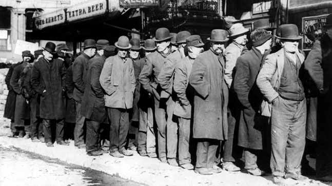 Men in Bread Line
